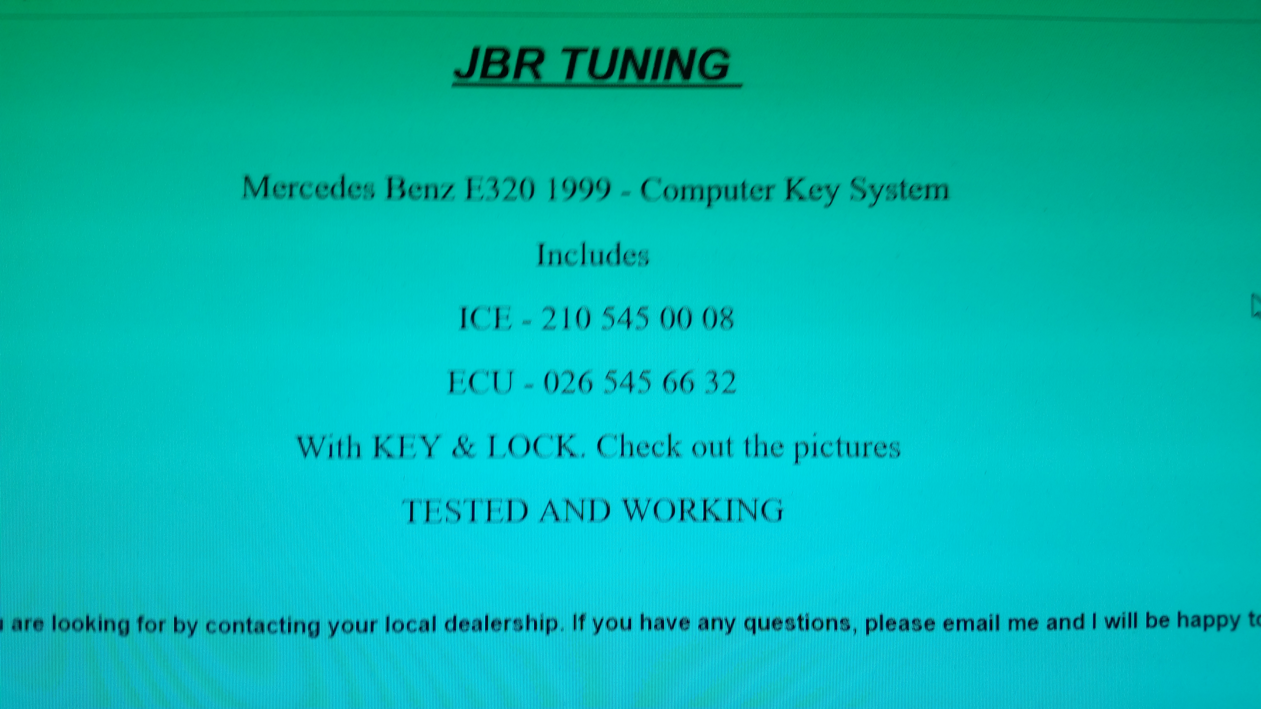 Do i can replaced my ECU,ignition switch,steering lock and
