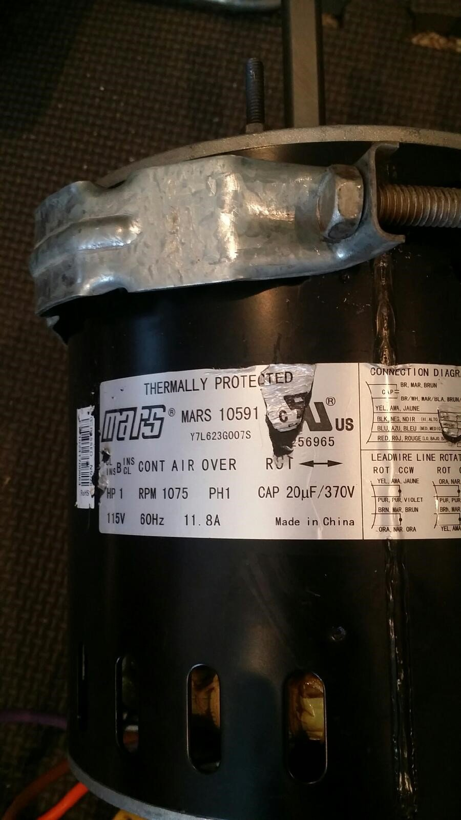 RE: Lennox Furnace Blower Motor replacement: 1. New motor ... on