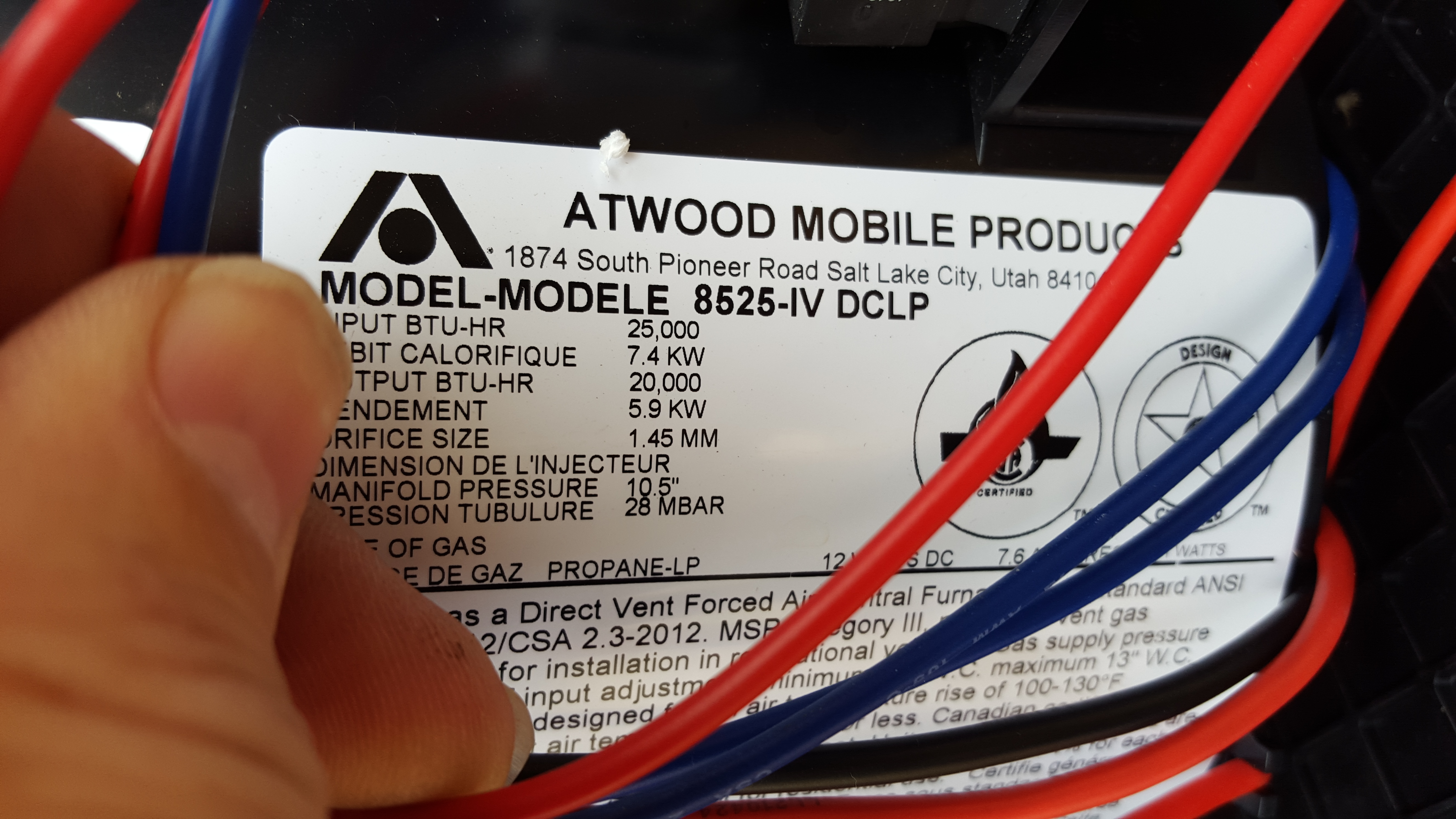 I Installed A New Atwood 8516 16000 Btu Furnace  I Have A