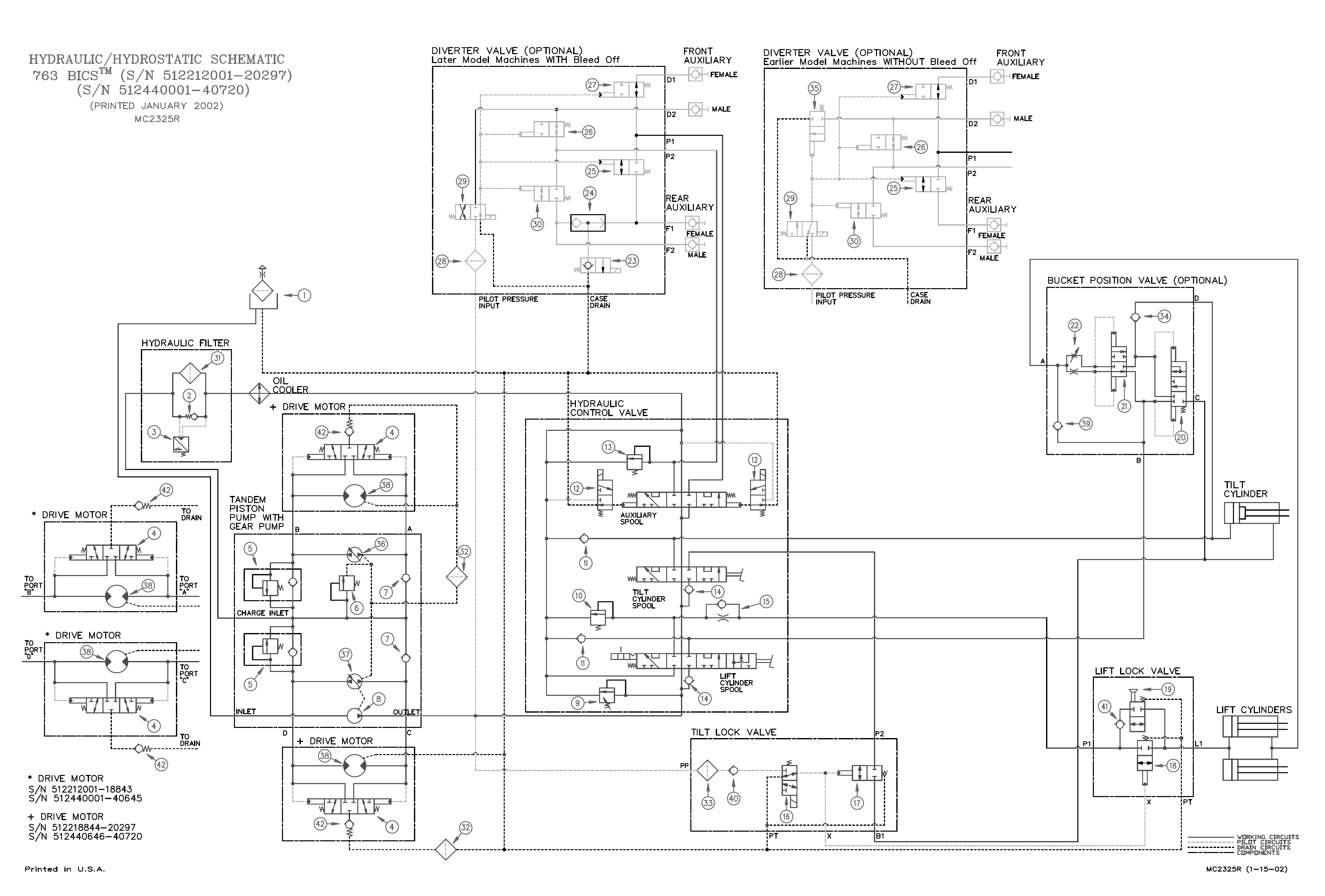 763 bobcat hydraulic schematic we have a bobcat 763 has no tilt and lift but the lines are still  bobcat 763 has no tilt and lift