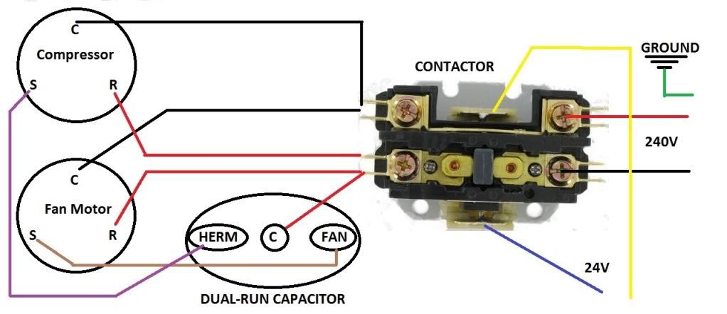 hvac contactor wiring wiring diagram data schemaac contactor wiring wiring diagram ac contactor wiring hvac contactor wiring