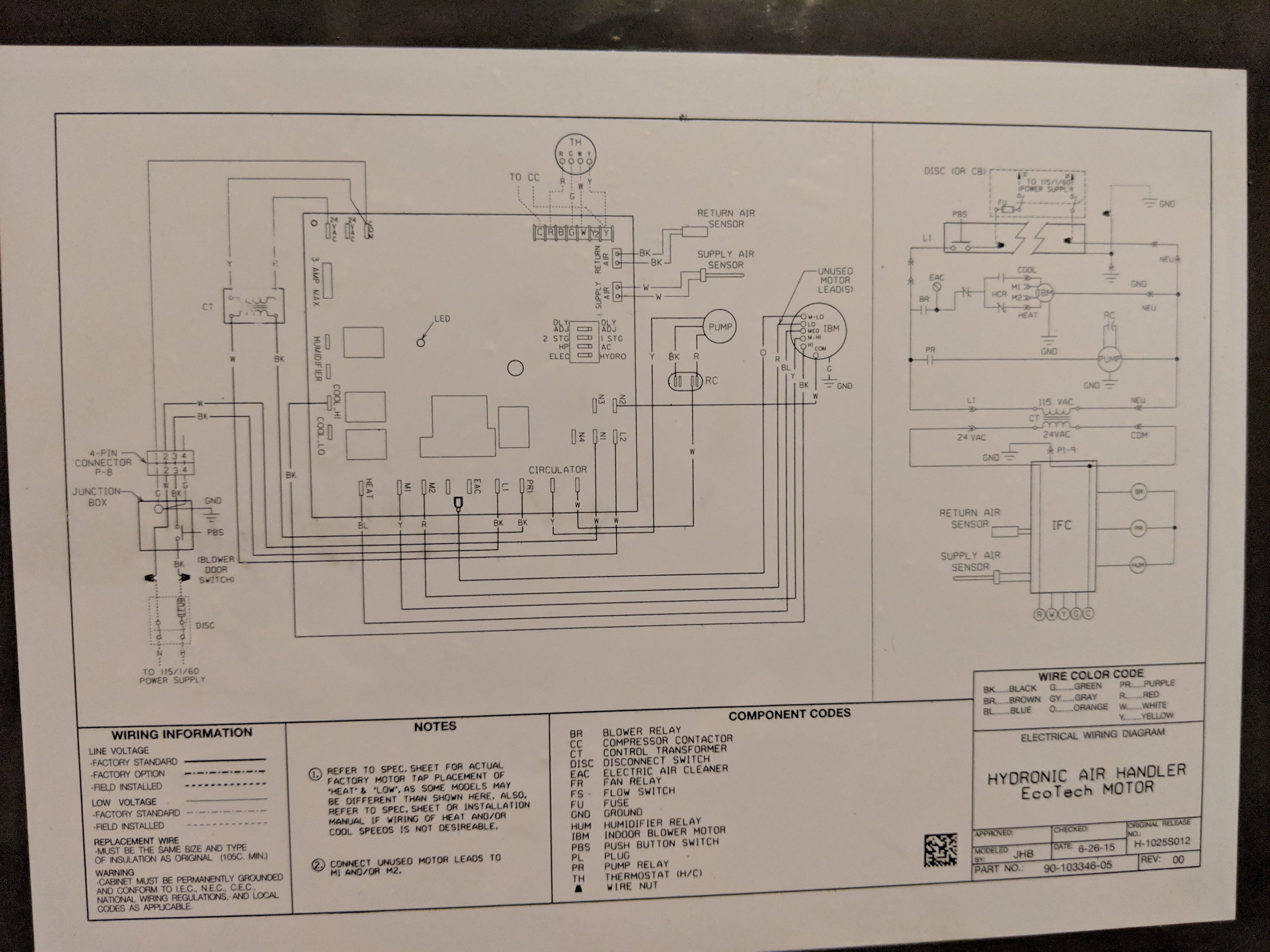 I'm installing a Navien combi boiler (NCB-180) with a Rheem hydronic air  handler (RWIT). The thermostat is a Nest (2ndJustAnswer