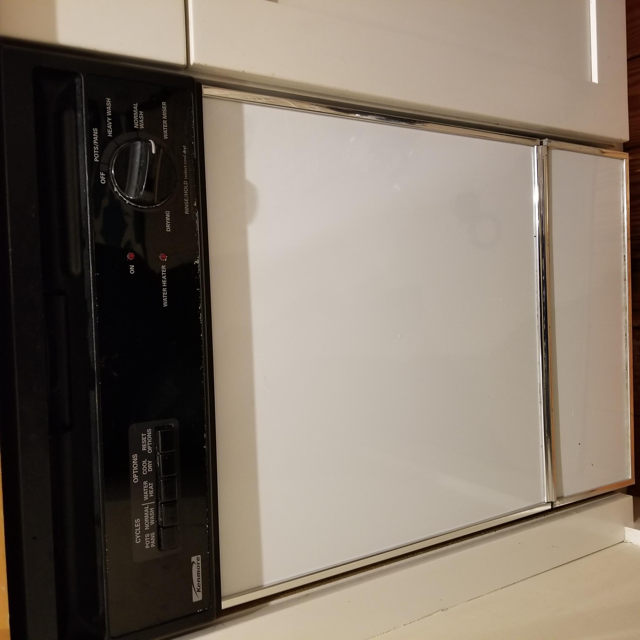 "Kenmore 24"" Dishwasher Model 587.14349690 Replaced"