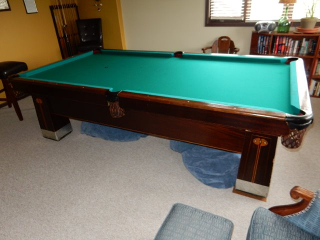 Old Pool Table Brunswick Balke Collender Co Monarch Cushions My - Old brunswick pool table