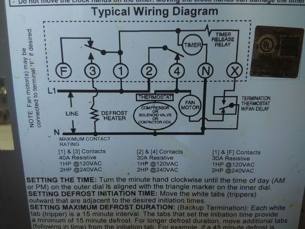 TrueTIMER t 49f wiring diagram swapping timer on true t49f freezer, from true t 49f wiring diagram at gsmportal.co