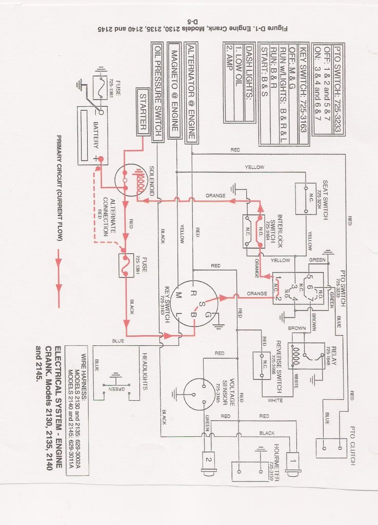 Wiring Diagram For Cub Cadet 2130 | Wiring Diagram