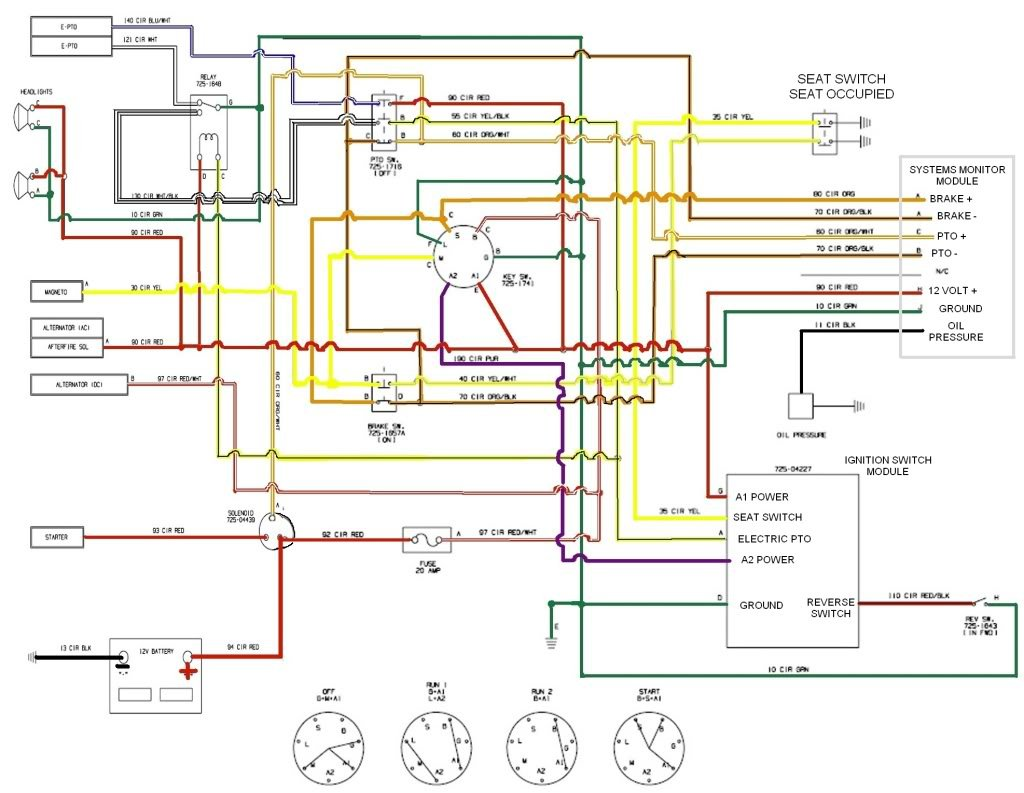 Cub Cadet 6 Prong Ignition Switch Wiring Diagram from f01.justanswer.com