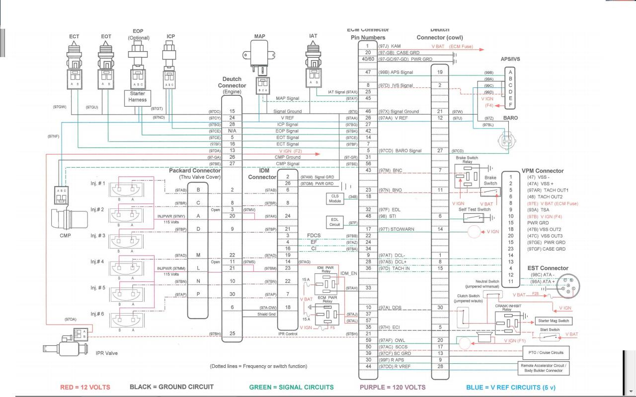 wiring diagram 1995 peterbilt cat 3406 e