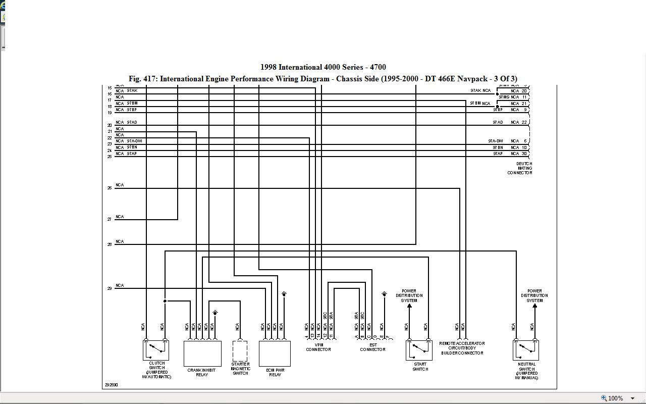 Fuse Diagram For 1999 International 4700 International 4700 Brake – International 4300 Engine Diagram