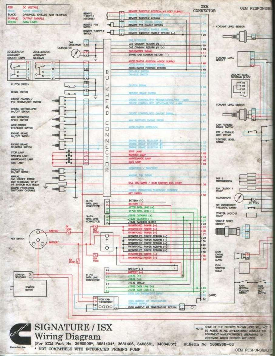 International Prostar Accelerator Wiring Diagram Schematics I Have Thai Cummins Isx Esn 14028654 Need The Pin Out For J1587 In Rh Justanswer Com Key Switch 2013