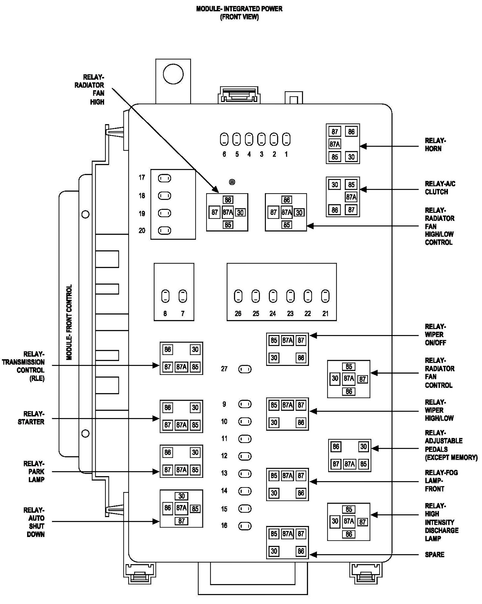 2005 Chrysler 300c Wire Harness Smoke 2000 Chrysler 300M Engine Diagram  Chrysler 300 2 7 Engine Diagram Starter Relay
