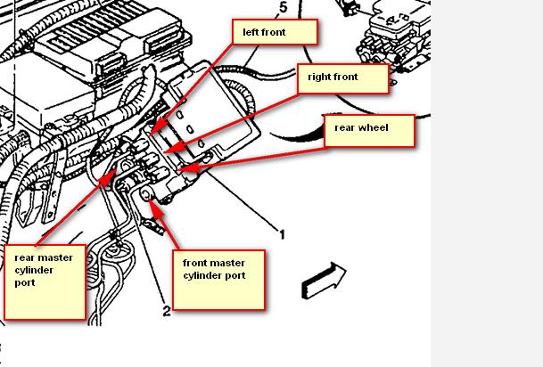2004 cadillac escalade abs brake line diagram