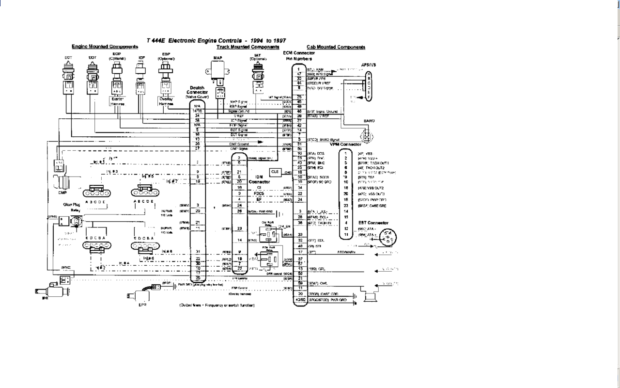 International 3800 Light Wiring Diagram Opinions About 1986 Rx7 For Headlights I Have A 1997 School Bus With An T444e Engine Rh Justanswer Com 2006 4300 Truck