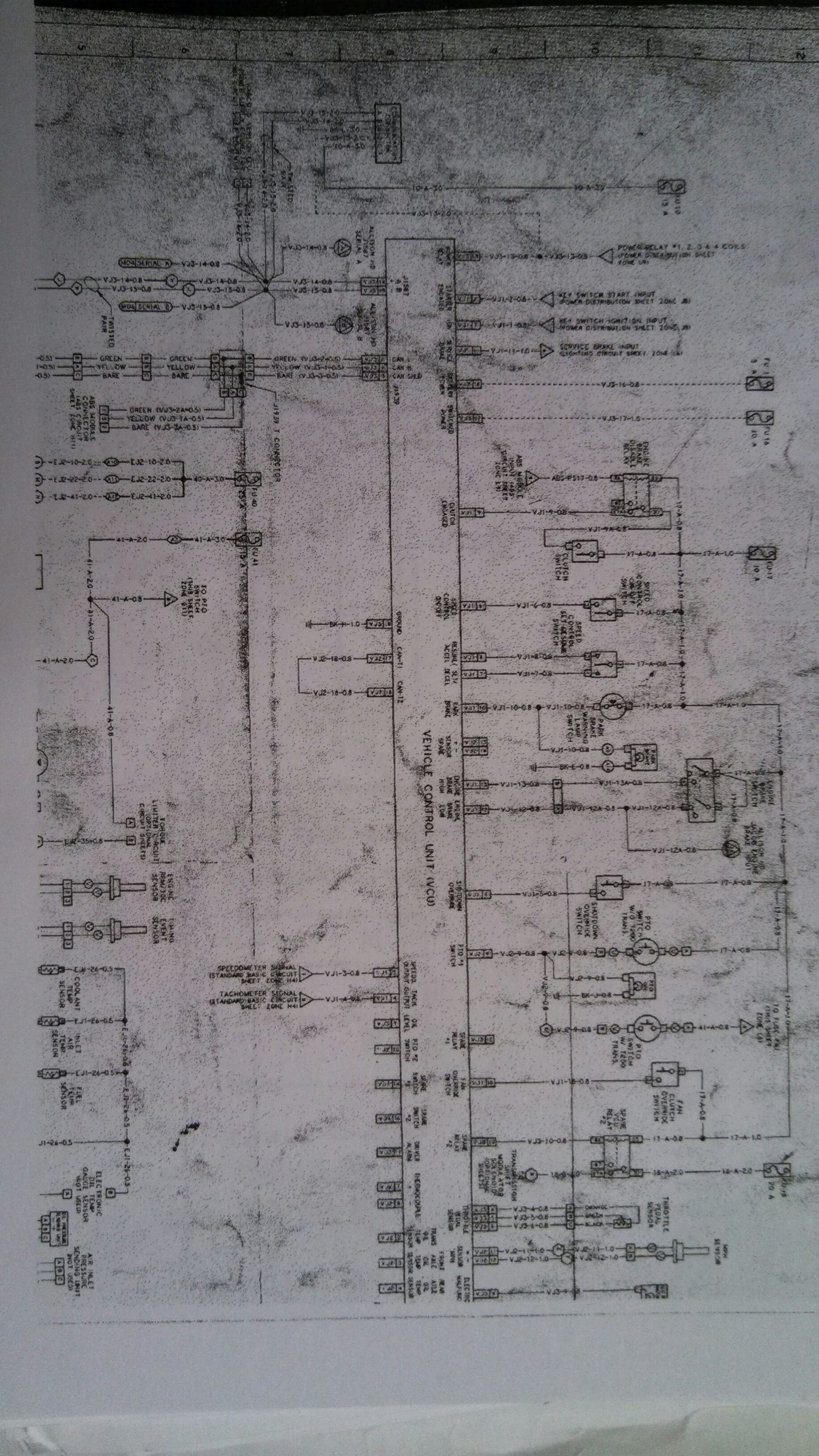 1996 Mack Ch613 Fuse Panel Diagram