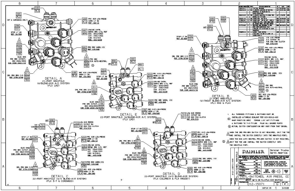 freightliner air manifold sensor