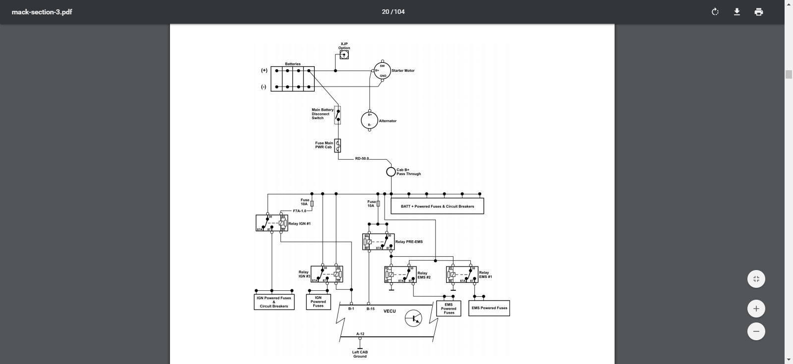 We have a 2010 Mack truck bm008305 at our shop came in will ... Mack Leu Wiring Schematics on