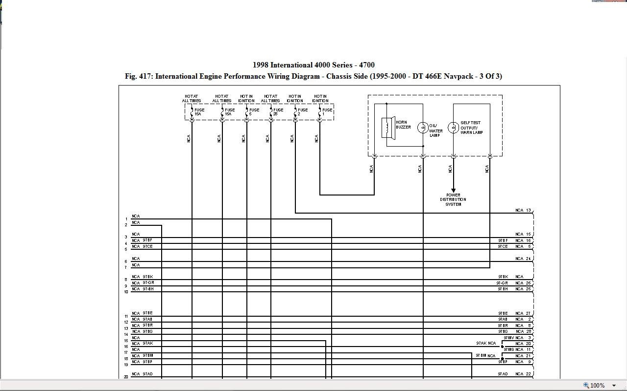 im looking for a wire diagram for starting and charging system on on DT466 Parts Manual for de9c1323 933b 4268 b2ce c4b6967c8c43_1995 to 2000 4000 series dt466e schematic page_3upper at 7MGTE Wire Diagram