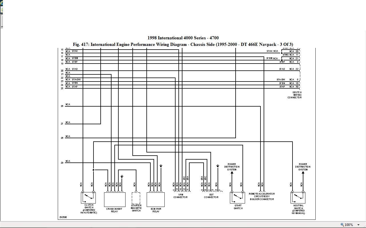 international dt466 engine electrical diagram