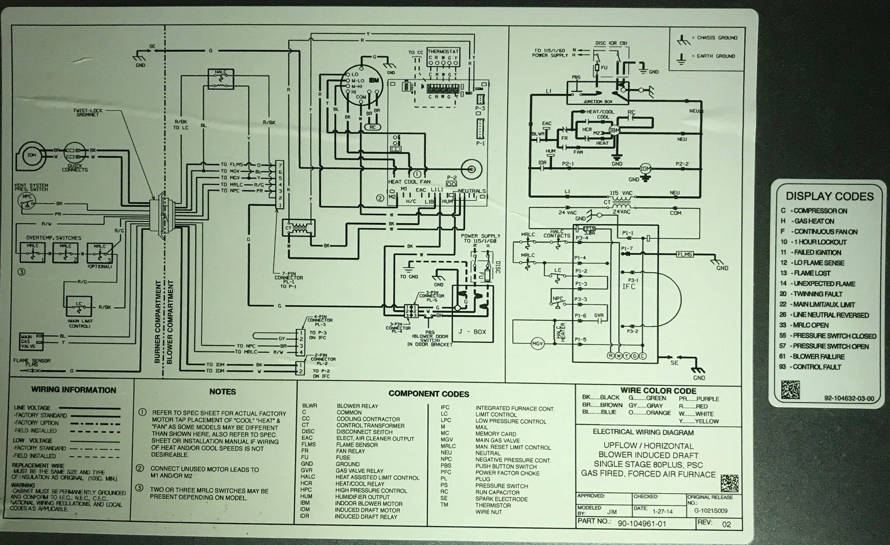 I Am Getting A Twinning Fault On My New Ruud Furnace It Was Working Gas Valve Relay Wiring Diagram Img 3388
