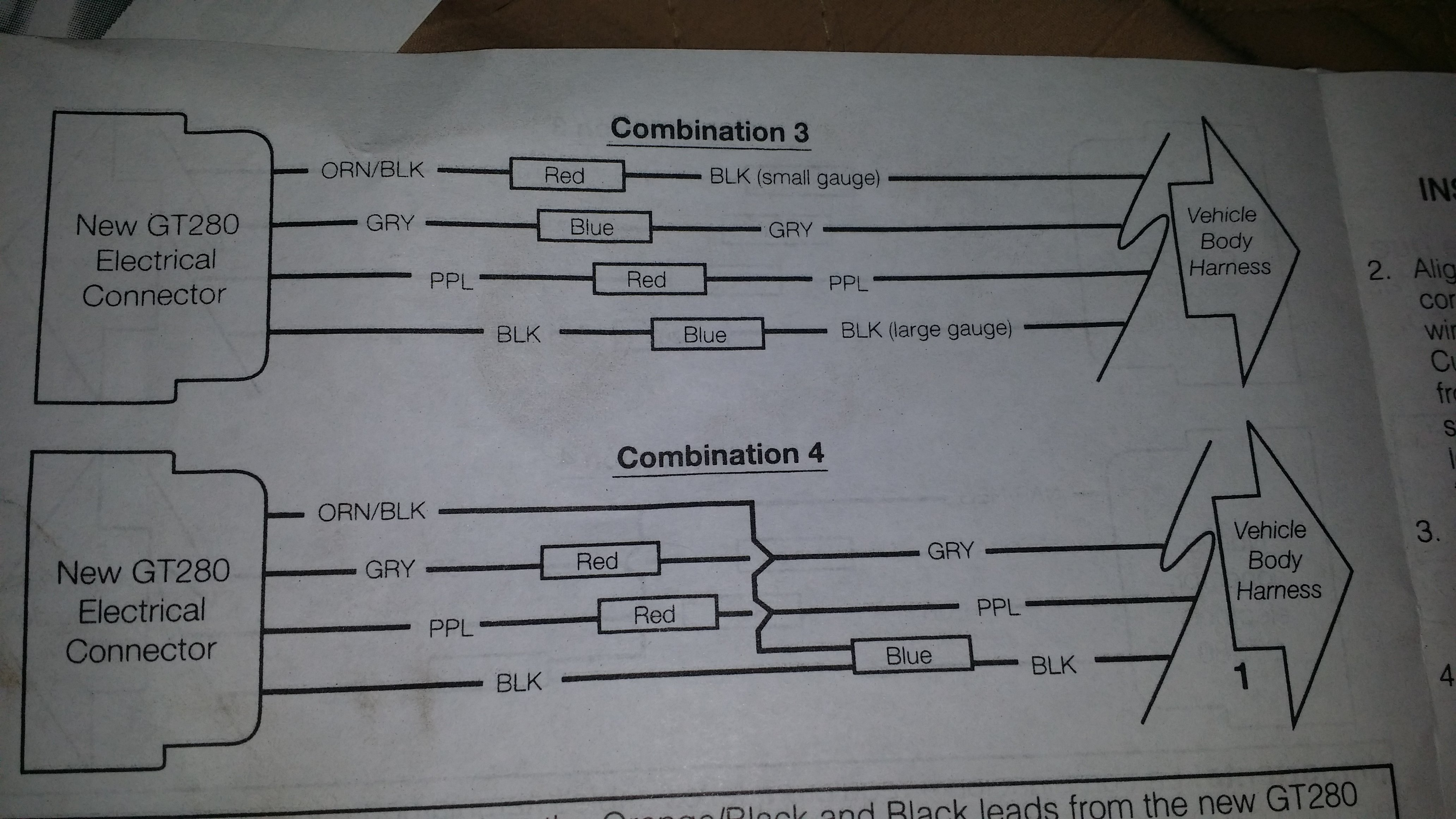 Trying To Wire The Gt280 Connector For The Fuel Pump On 2002 Chevy Silverado 1500 Hd But The Diagram In The Instructions