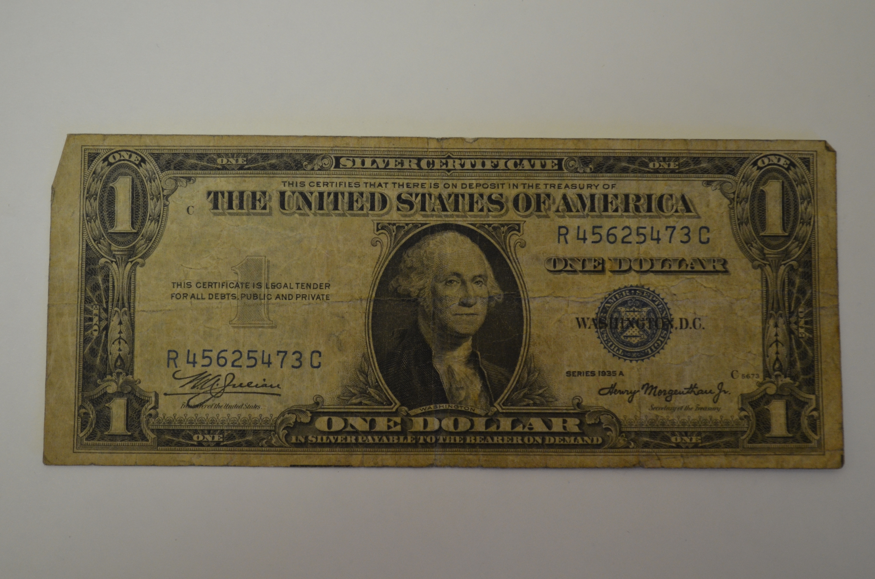I Am Interested In The Value Of A 1937 Silver Certificate Please