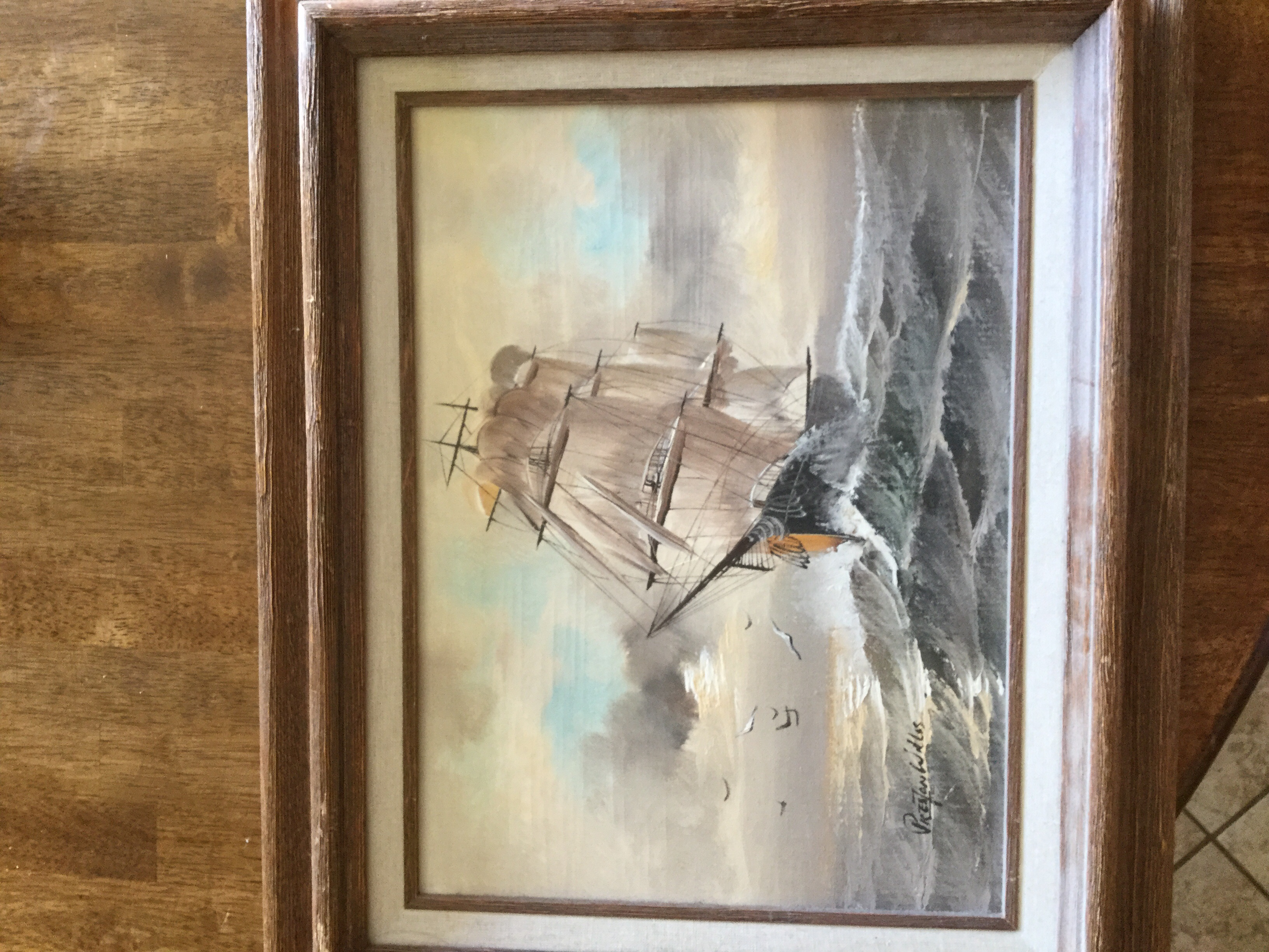 I Have A Preston Willis Oil Painting That I Received From My Dad On