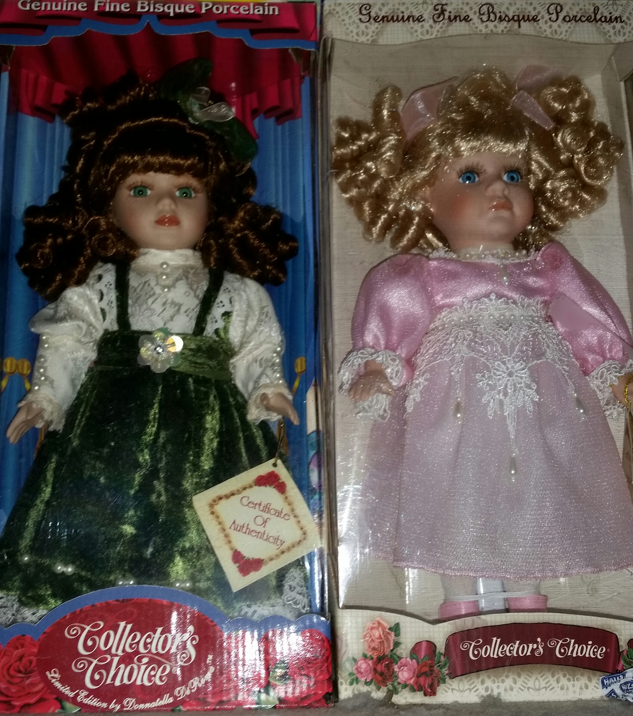 Are Donnatella De Roma Collection (Genuine Fine Bisque Porcelain) dolls worth anything? They