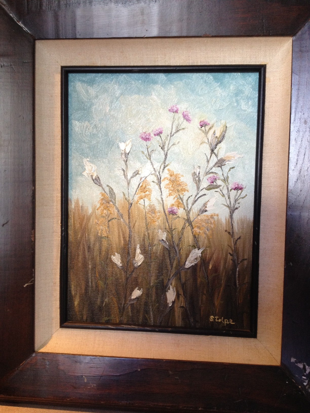 Trying to find out artist name for a small oil painting