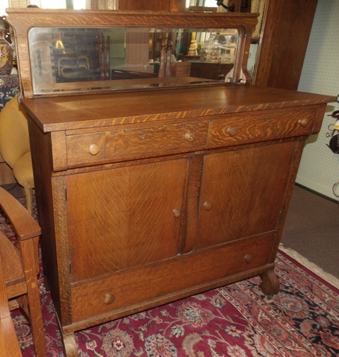 2016 Auction-3-055 oak mission style sideboard.JPG