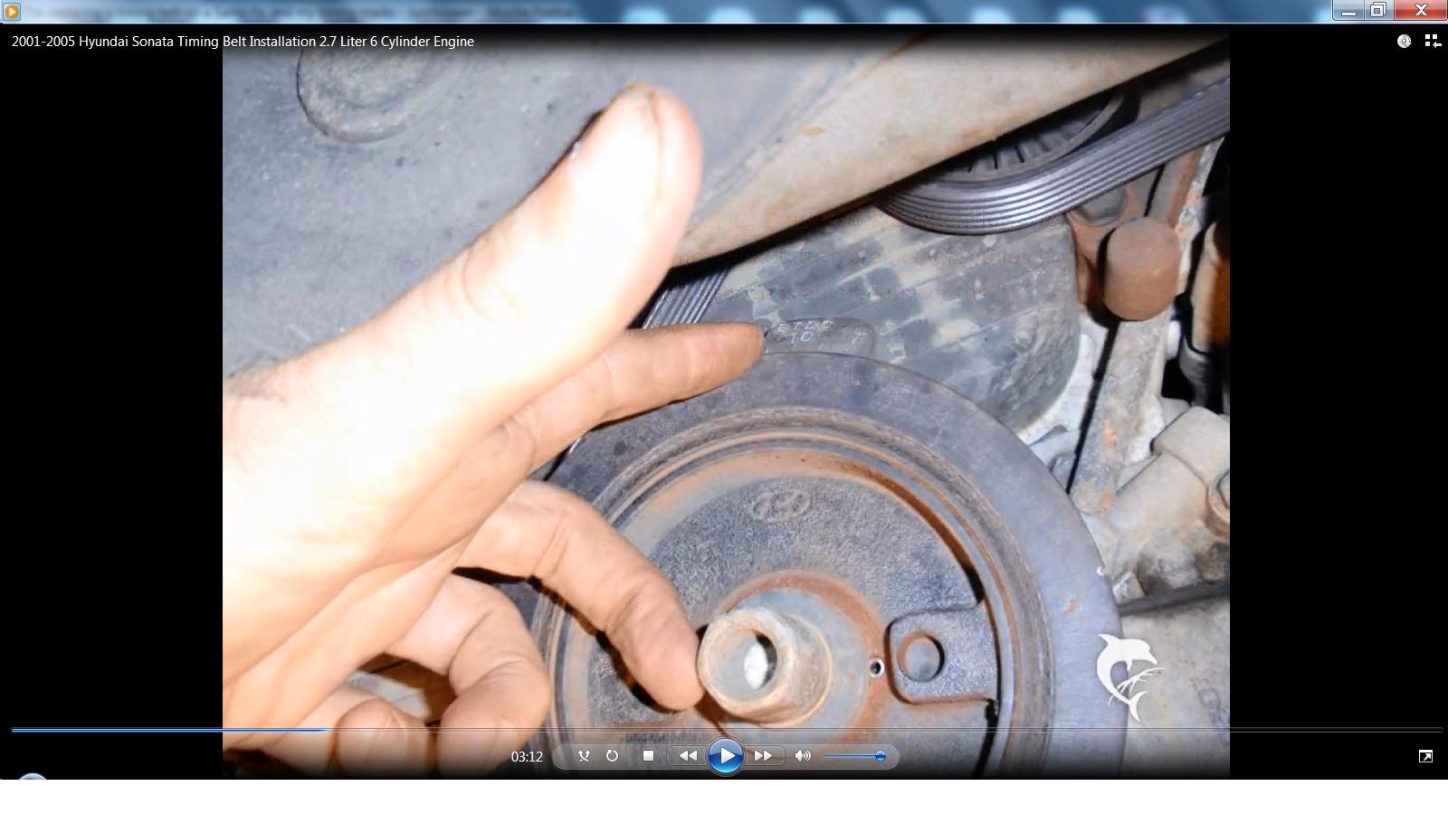 remove crank pulley   hyundai sonata