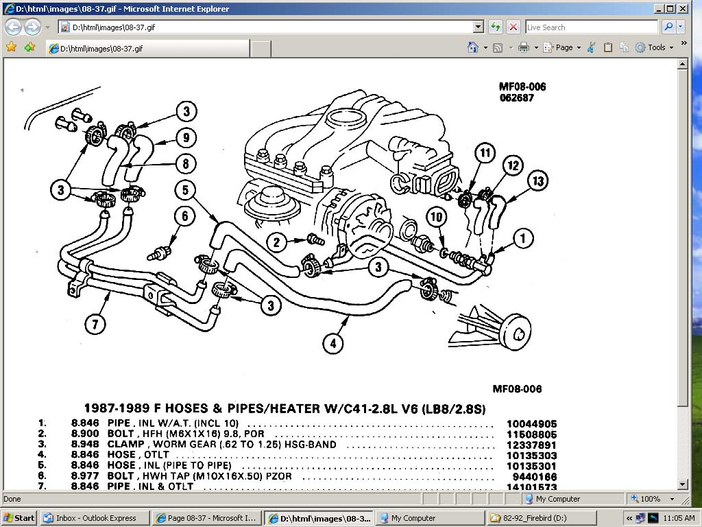 2001 F150 Heater Control Valve Diagram Trusted Wiring Ford Ranger Engine I Have An 89 Firebird With A 2 8 Motor The Coolant Under