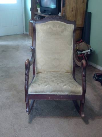 Tremendous I Have An Antique Gooseneck Rocking Chair That Was Handled Gmtry Best Dining Table And Chair Ideas Images Gmtryco