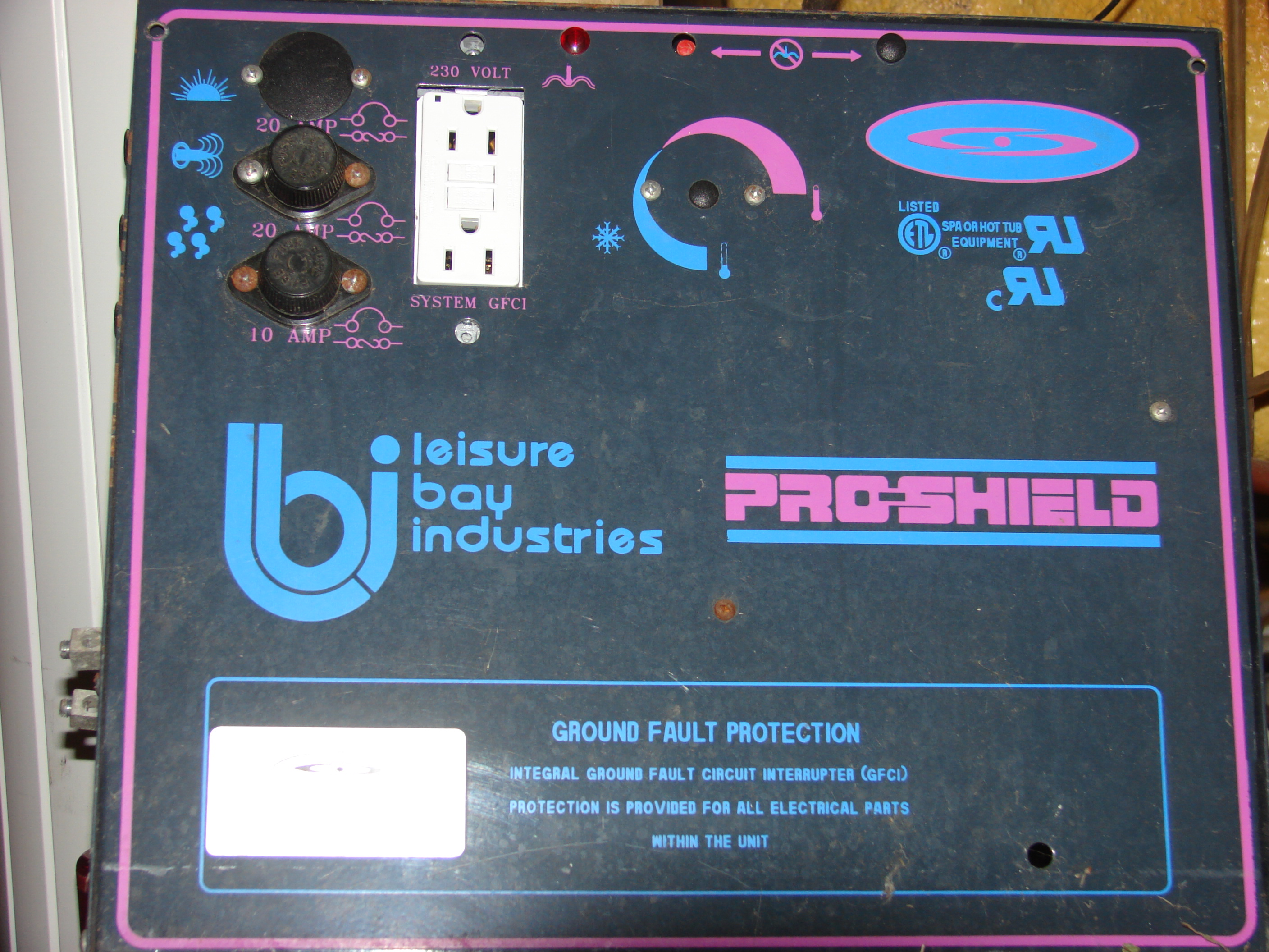 I Have A Leisure Bay Pro Shield Hot Tub Model G1010clssog Ca And Spa Wiring Diagram Panel Controll Face