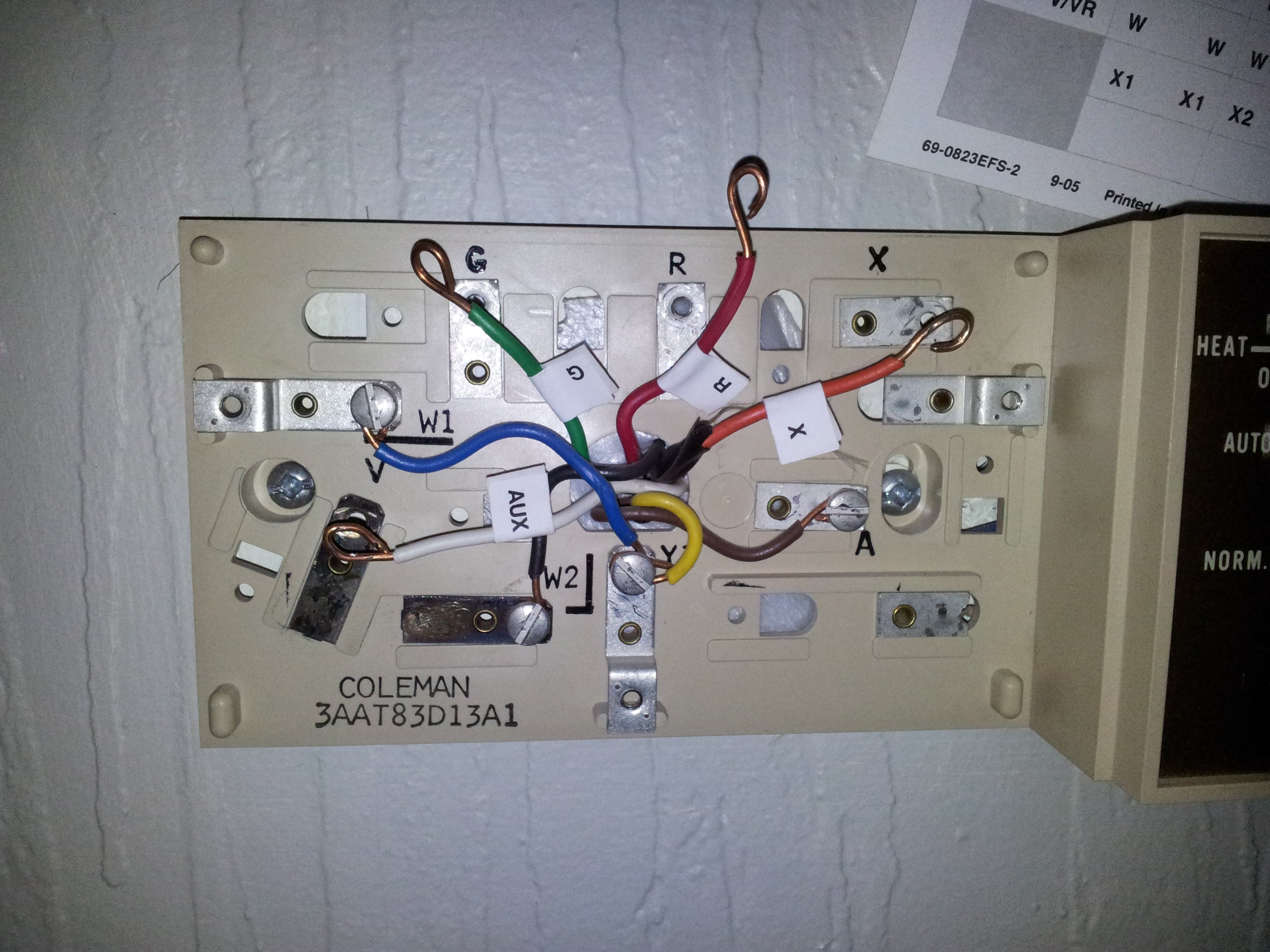 I am trying to install a Honeywell RTH8500 Programmable tstat from Honeywell Rth Wiring Diagram on honeywell thermostat 5 wire, honeywell v8043e wiring, honeywell wiring wizard, honeywell aquastat diagram, honeywell relay wiring, honeywell personal fans, honeywell wiring your home, honeywell gas fireplace, honeywell parts, honeywell power head, honeywell heater system, honeywell wiring guide, honeywell thermostat blue wire, honeywell thermostat wiring, honeywell gas valves, honeywell thermostat diagram, honeywell zone valve wiring, honeywell transformer wiring, honeywell installation manual, honeywell schematic diagram,