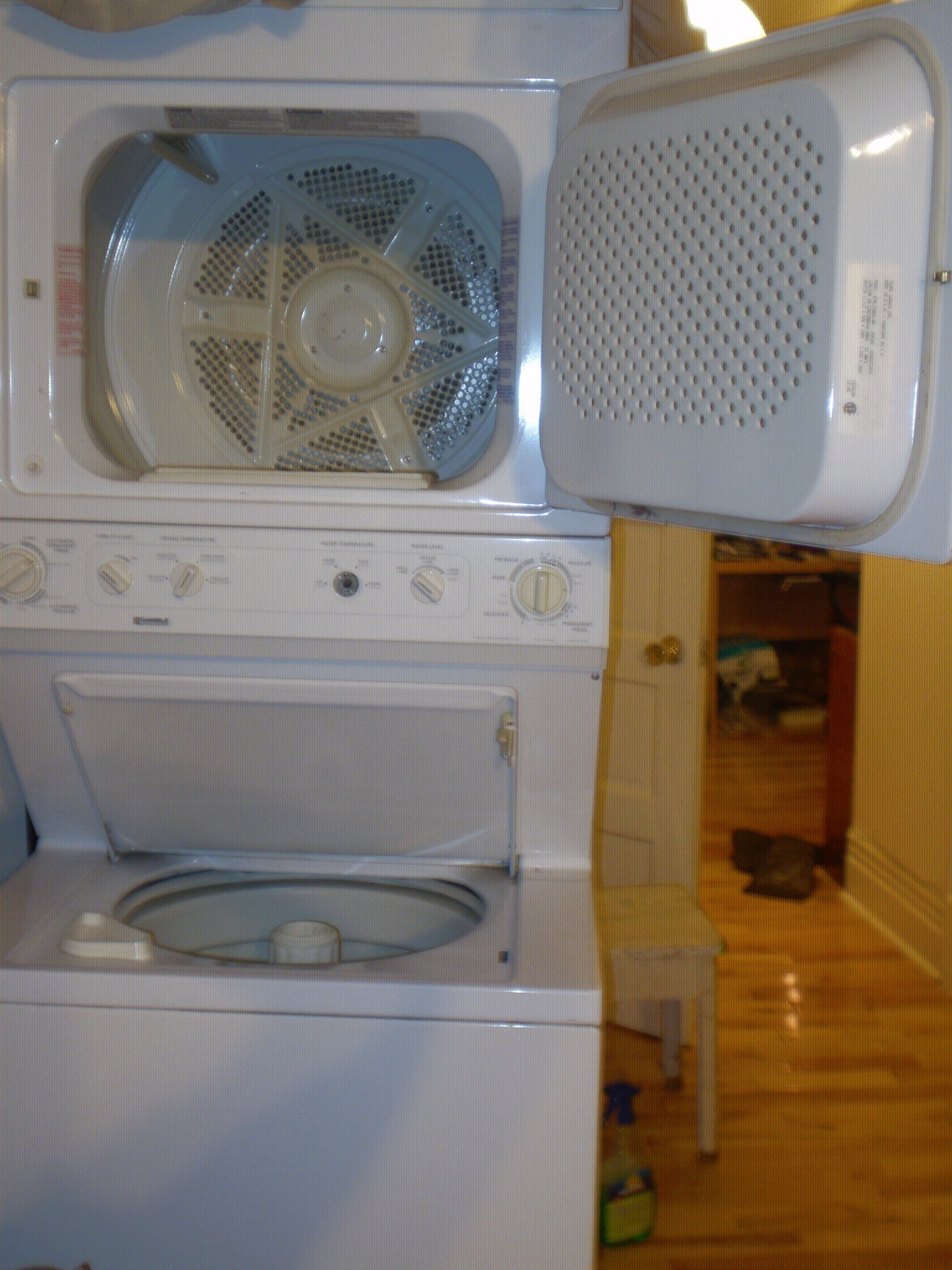 My Kenmore Stackable Washer and Dryer Model no 9701780250