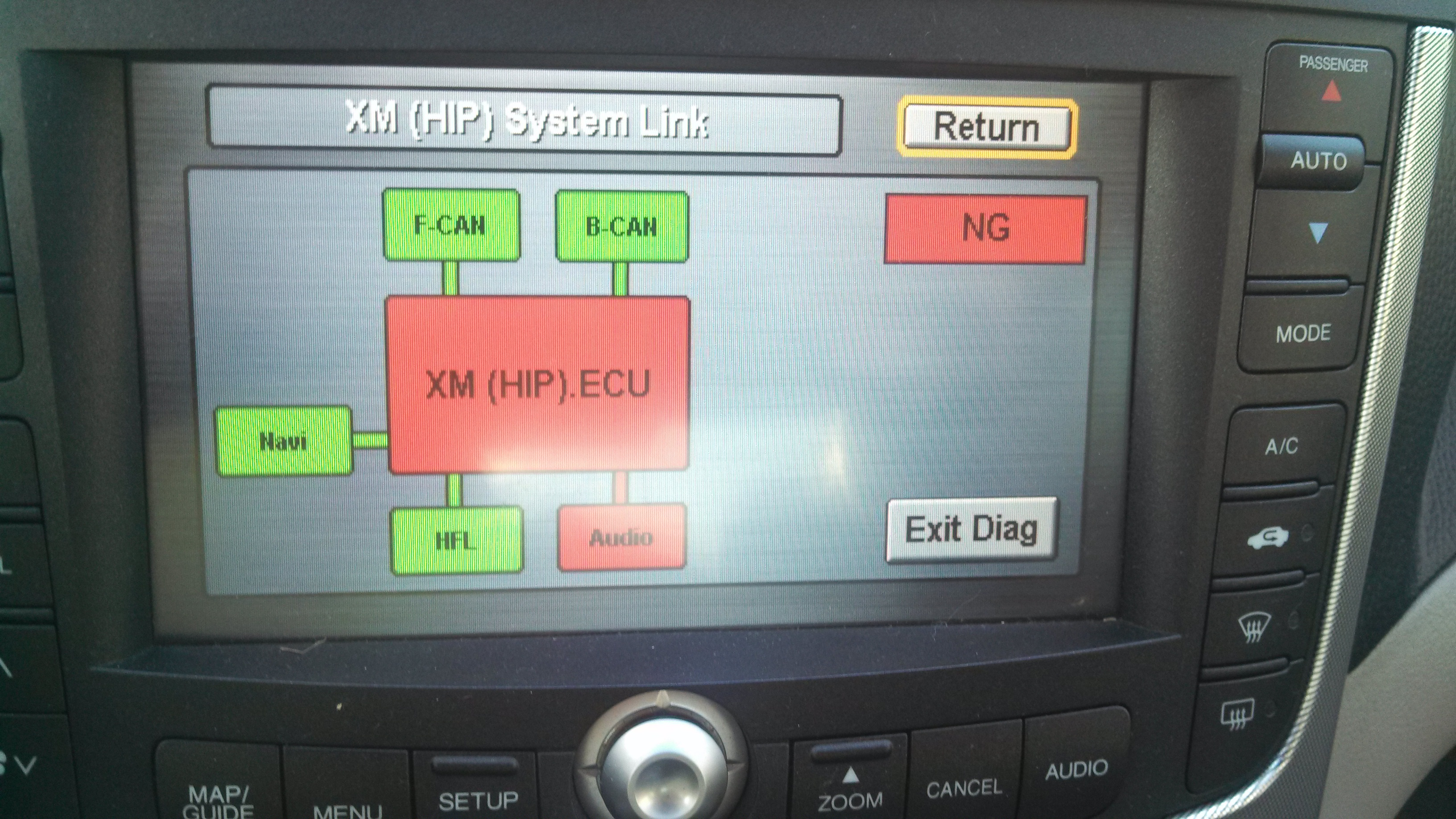 tl 07 acura tl xm stopped working today almost like the button
