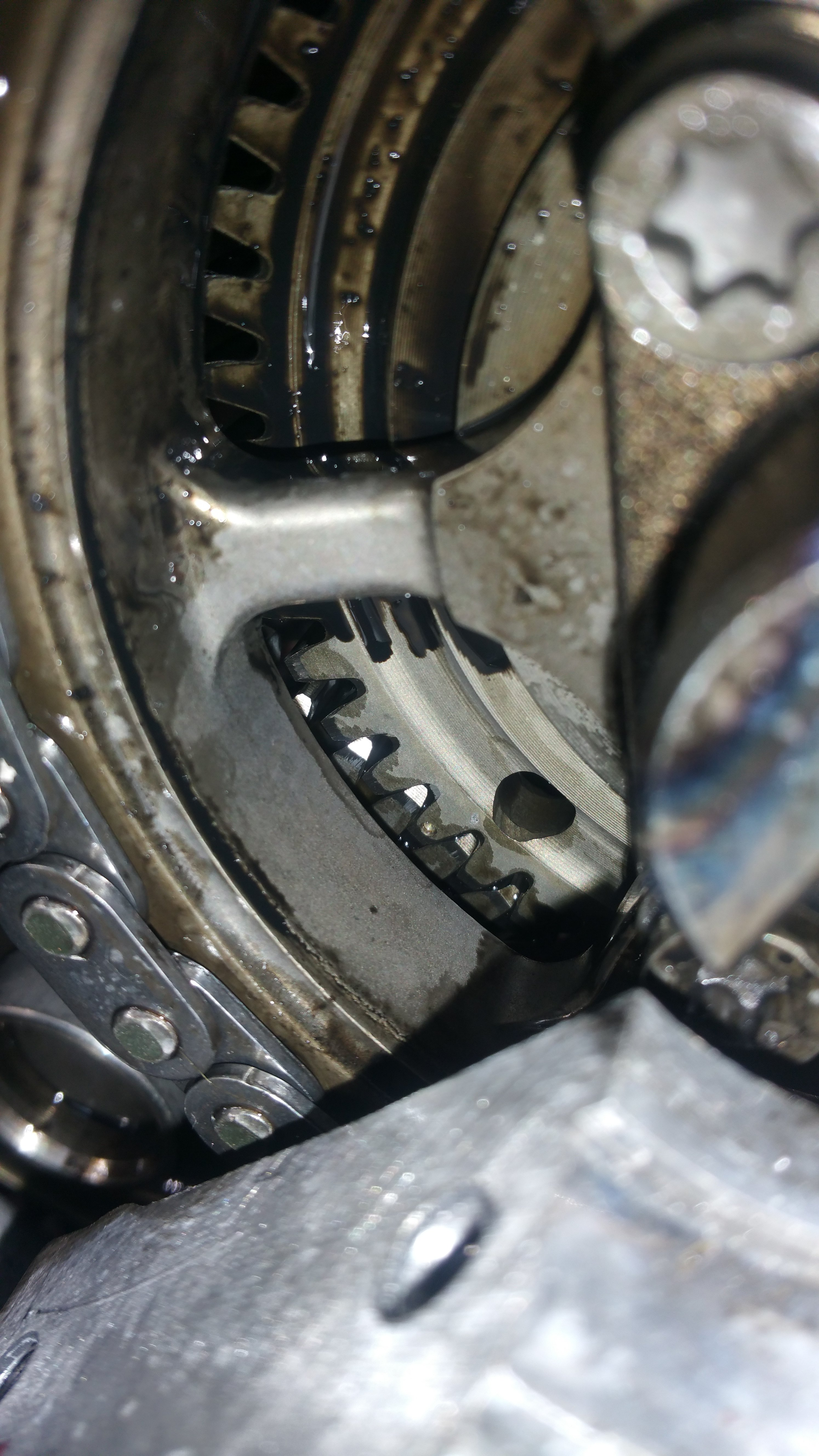 mercedes om642 timing chain tensioner replacement