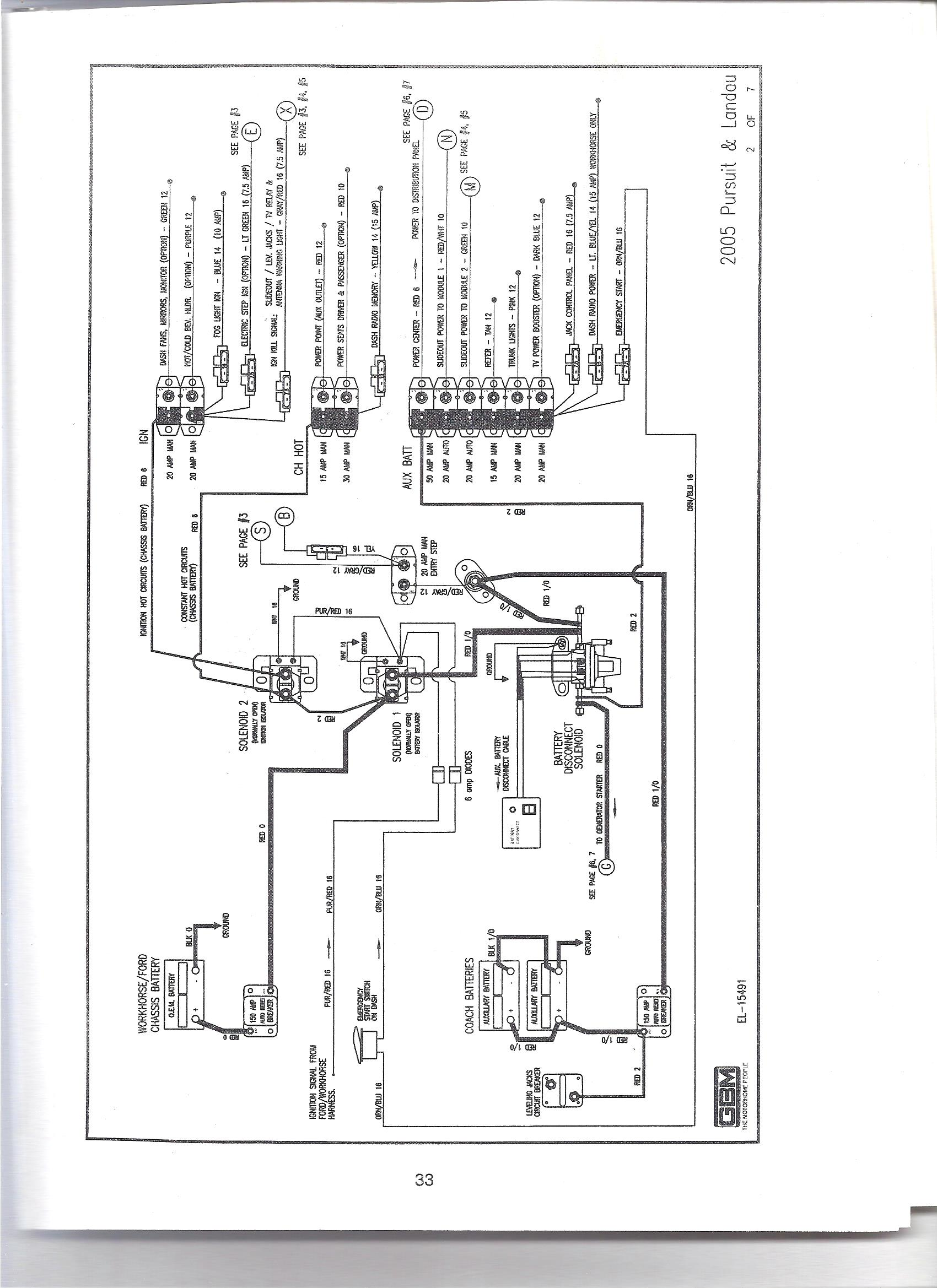 Wiring Diagram For House Lights : I have a georgie boy landau ft class rv with