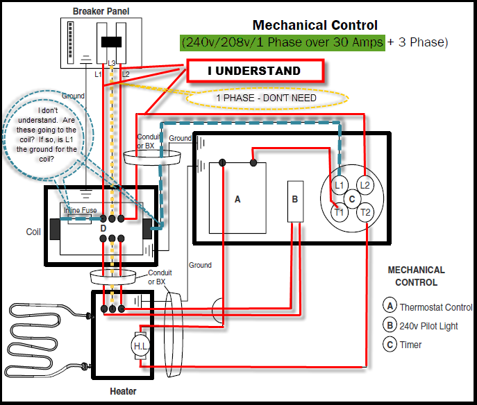 Electrical Wiring Diagram Questions : I have question regarding my sauna heater a