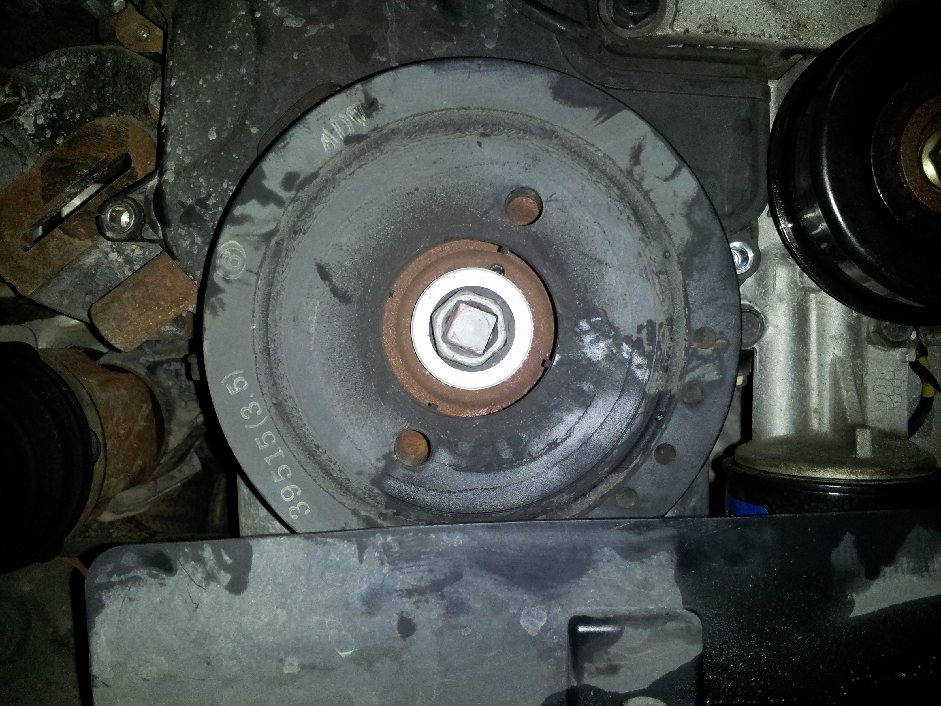 I Am Going To Do The Timing Belt Replacement Today On My Wifes 2006 2005 Kia Amanti Manual Troubleshooting Have Attached A Picture Of Crankshaft Pulley And Bolt