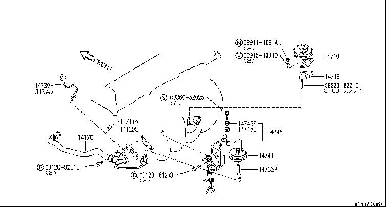infiniti mechanic i u0026 39 m getting a p0400 dtc per the 2001 infiniti i30 vacuum diagram