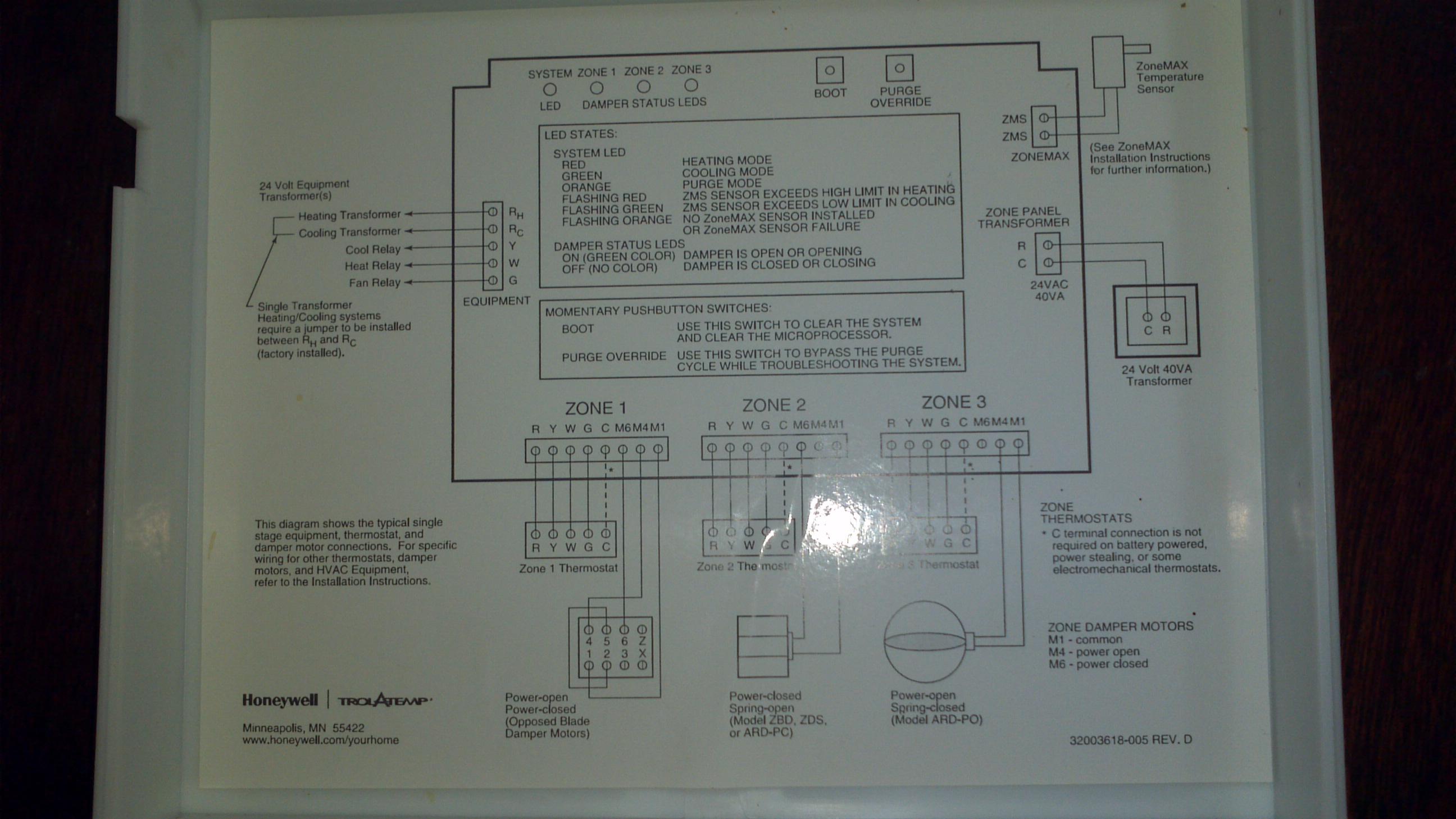 Honeywell Hz311k Installation manual
