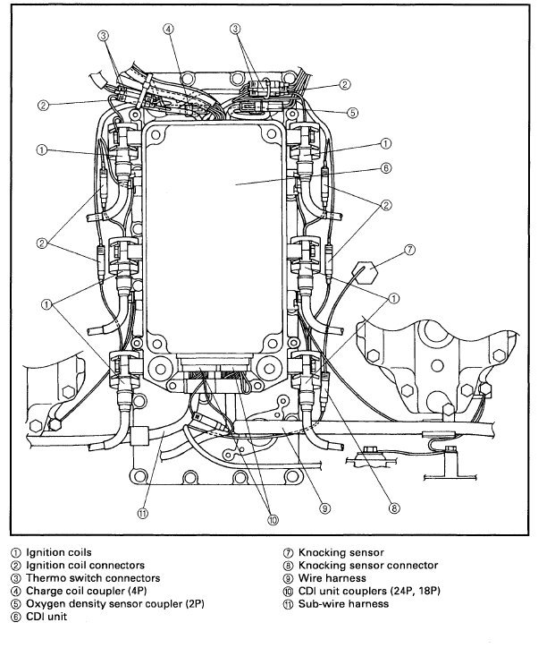 Mercury V6 Outboard Wiring Diagram : Hp mercury outboard control box wiring diagram