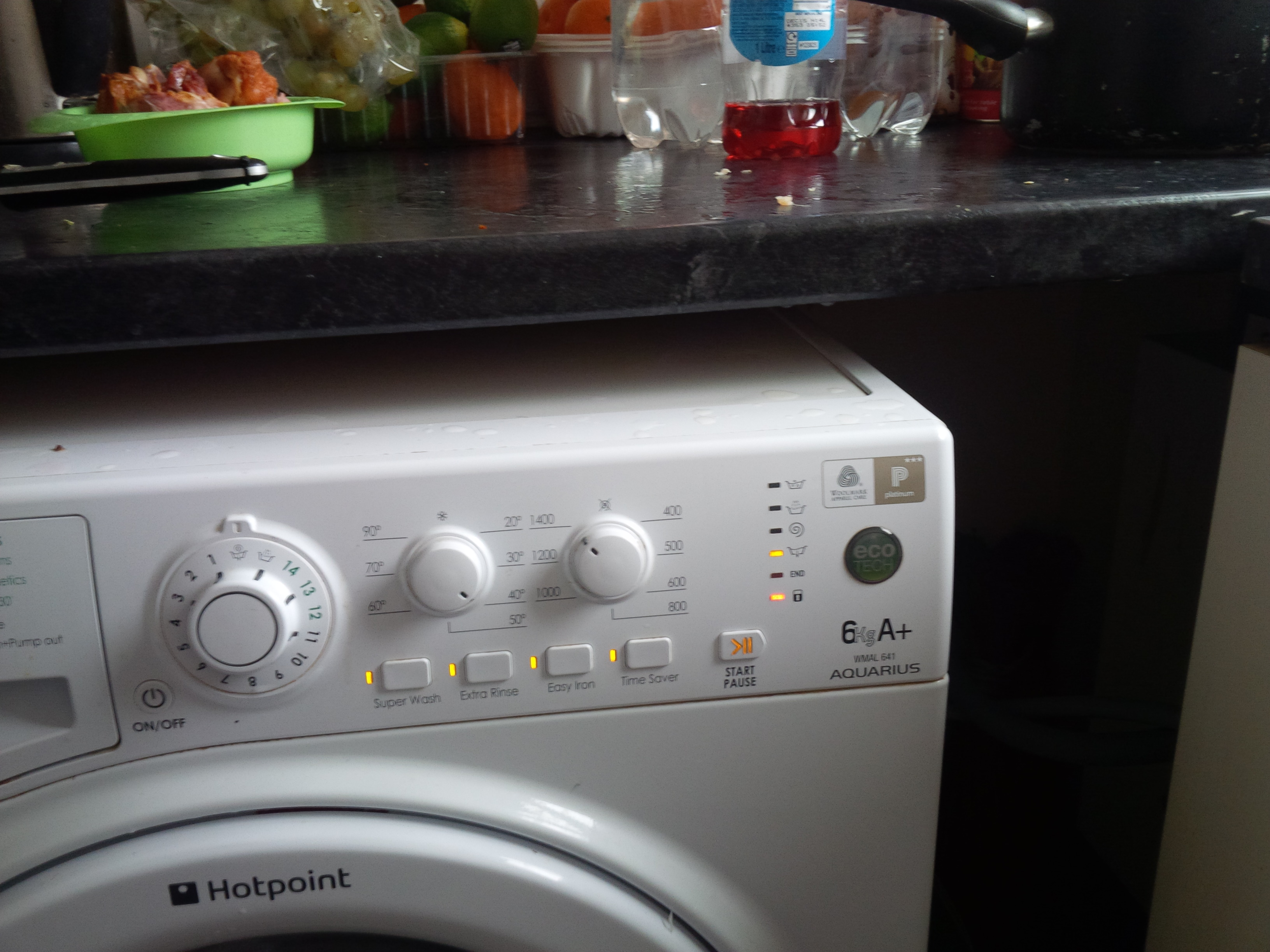 please see attachment and advise washing machine indicator lights