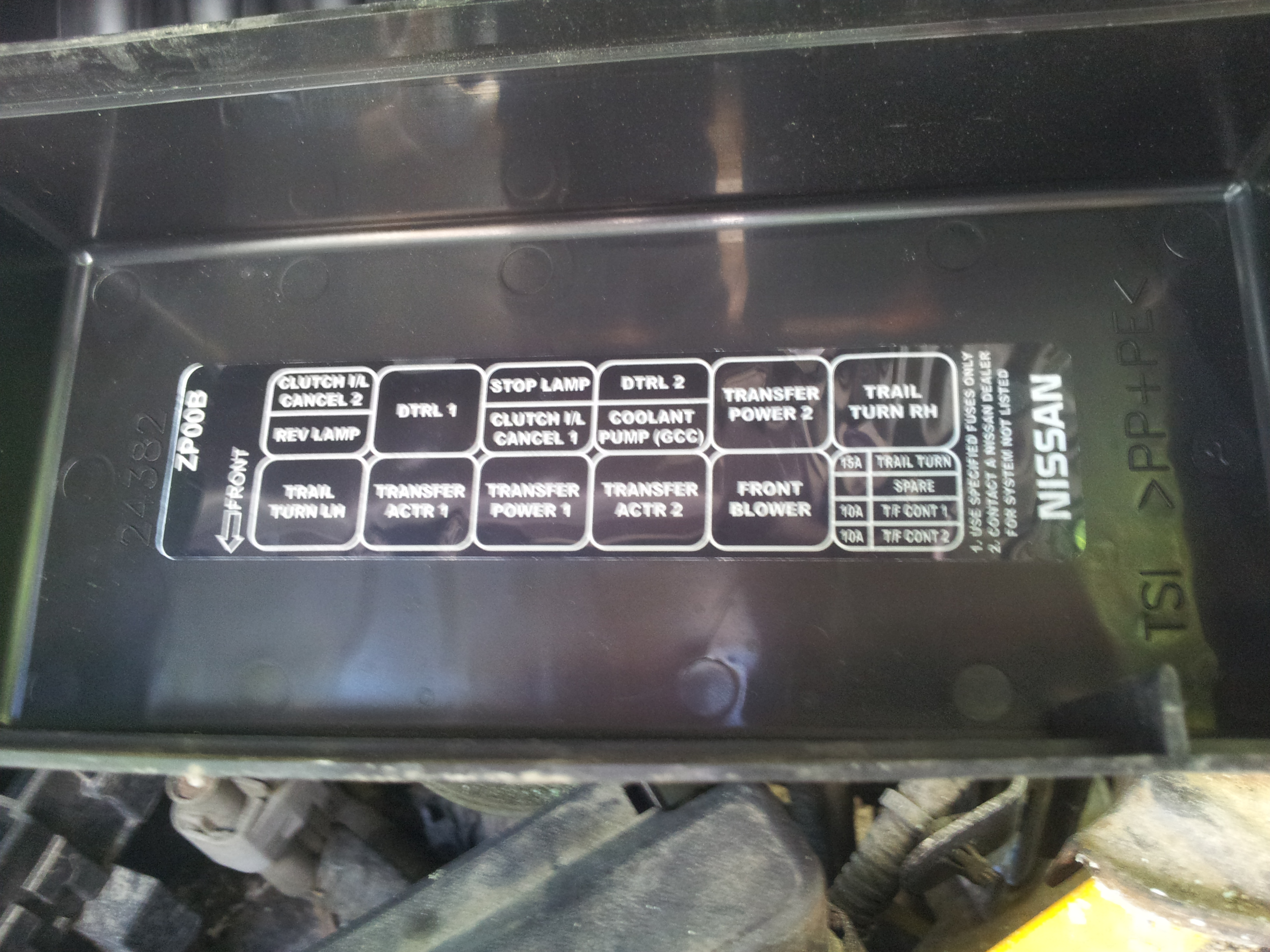 2005 nissan frontier fuse panel diagram