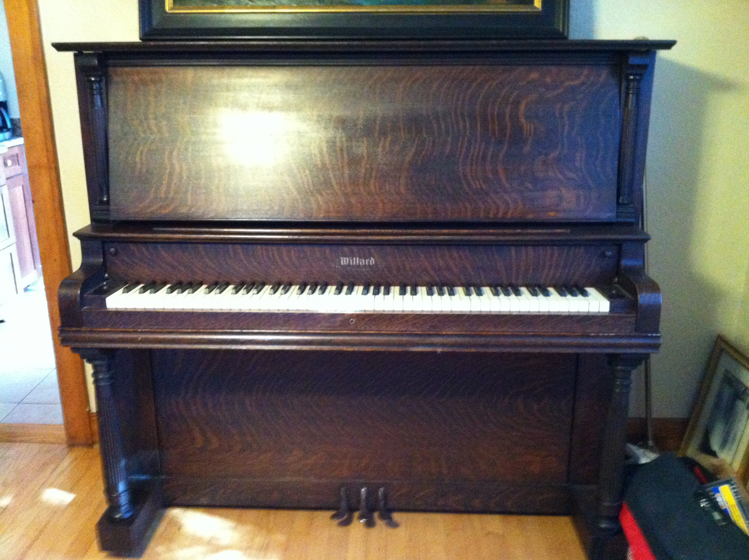 I have an upright piano that says Willard CO Chicago. It is in ...