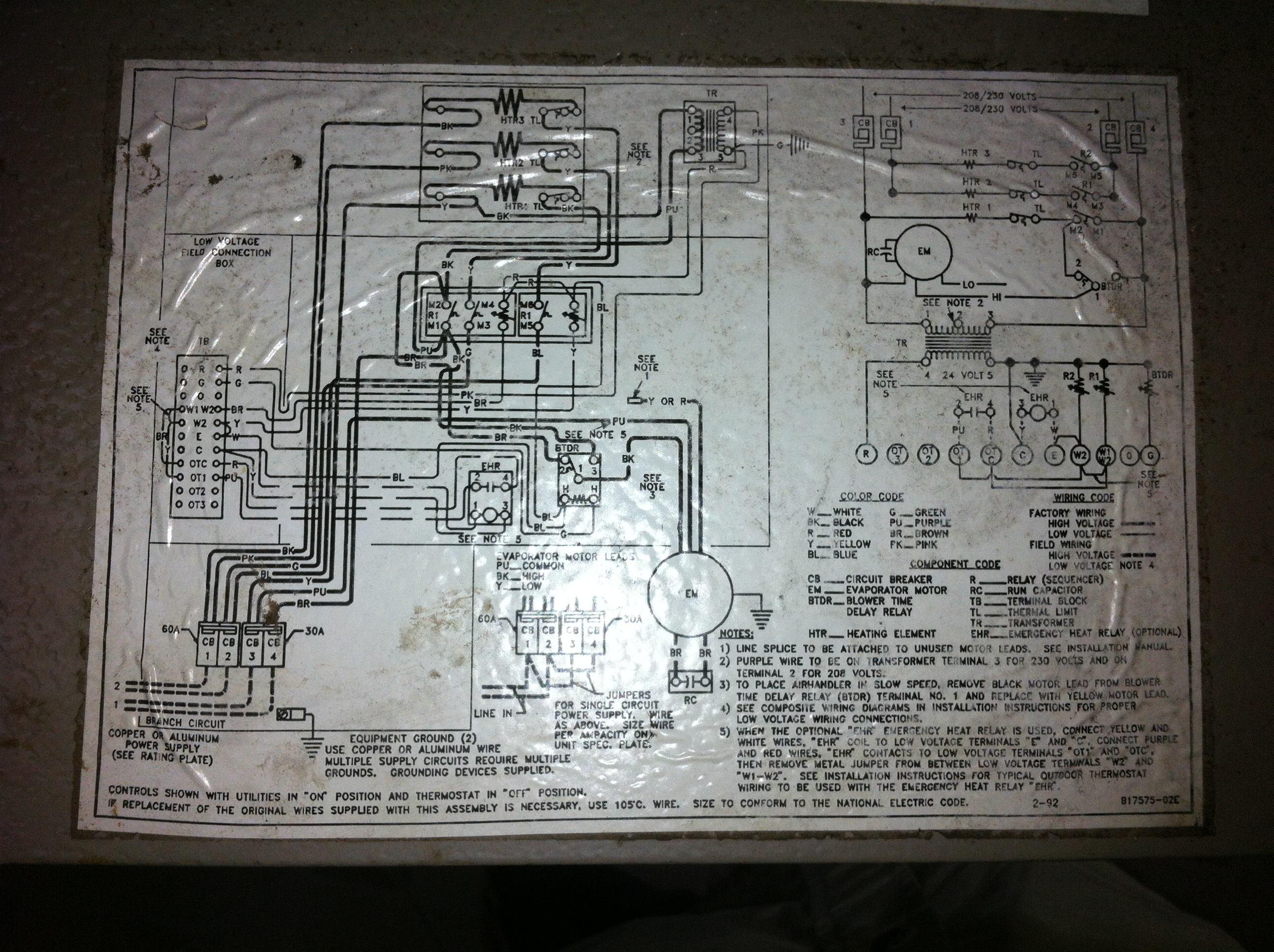 Goodman A36 10 Wiring Diagram 29 Images Heat Pump Air Handler 2012 04 15 010529 Img 0035 My Janitrol Continues To Run In