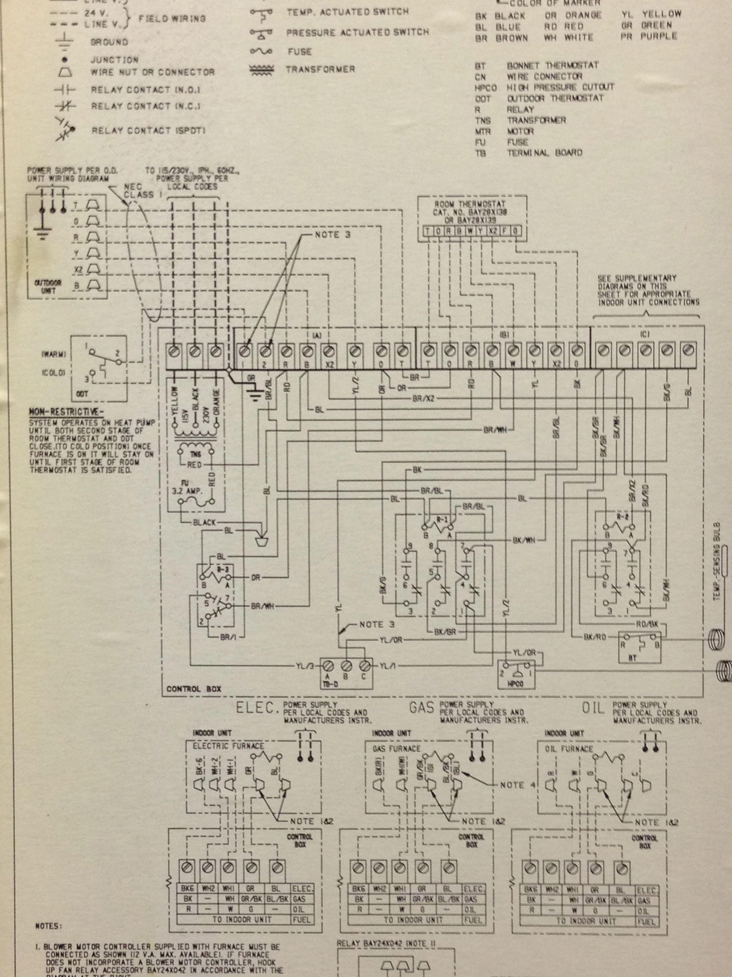 General Electric Weathertron Thermostat Wiring Diagram