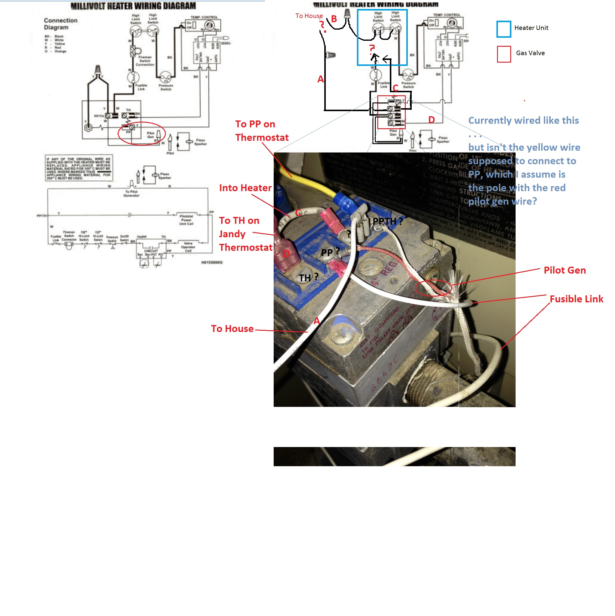 I have a problem with my EPG-125 Series One Heater. The unit ... Jandy Lrz Millivolt Wiring Diagram on