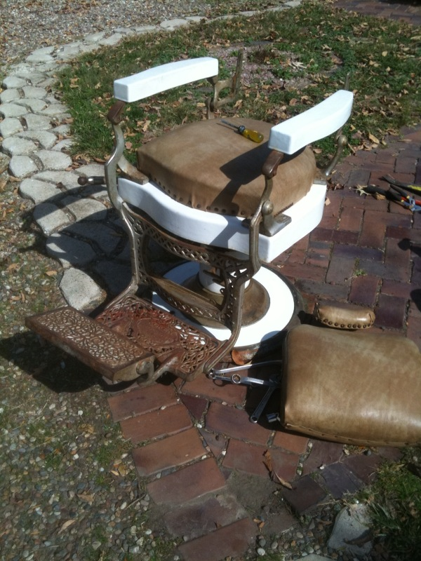 graphic. Antique ... - Can You Damage The Value Of A Antique Koken Barber Chair By